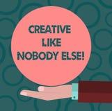 Die Anmerkungsvertretung schreiben kreativ wie niemand sonst Geschäftsfoto, das Spitzenkreativität der hohen Qualität das ursprün stock abbildung