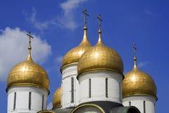 Die Annahme-Kathedrale (Moskau Kremlin, Russland) Lizenzfreies Stockfoto