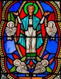 Die Annahme von Mary in Himmel stockfotografie