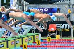 Die Anordnung an einer Schwimmenabschussrampe Stockbild