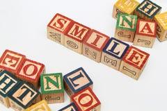 Die Anordnung für Buchstaben bildet ein Wort, Version 11 stockbild