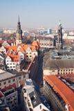 Die Ansicht über alte Stadt Dresden lizenzfreie stockfotografie
