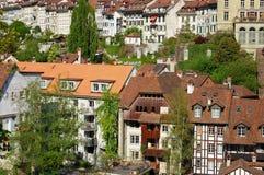 Die Ansicht über alte Stadt von Bern Stockfotografie
