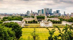 Die Ansicht über Greenwich vom Hügel Lizenzfreies Stockbild