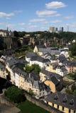 Die Ansicht über Luxemburg Stockfotografie