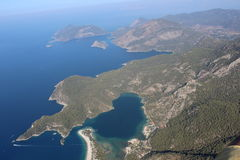 Die Ansicht der Berge und des Meeres 11 Stockbild