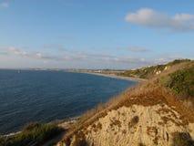Die Ansicht der Küste von Màlaga-Bucht, Los Angeles, Kalifornien Lizenzfreies Stockfoto