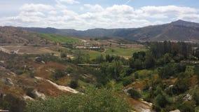 Die Ansicht der montains von califorina Stockbild