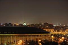 Die Ansicht der Nacht Moskau. Stockfoto