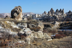 Die Ansicht der türkischen Stadt Goreme Stockfotos