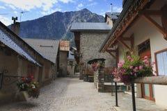 Die Ansicht des alten Dorfs in Frankreich, Venosc stockfotos