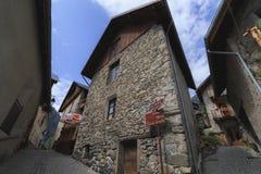 Die Ansicht des alten Dorfs in Frankreich, Venosc lizenzfreie stockbilder