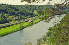 Die Ansicht des Fluss Sylva vom Vierzigmeter stockfotografie