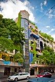 Die Ansicht des Hundertwasser Hauses Lizenzfreies Stockbild