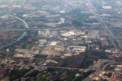 Die Ansicht des Luftbildfotografies Stockfotografie