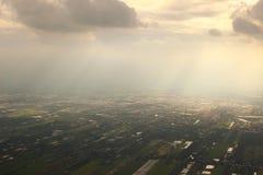 Die Ansicht des Luftbildfotografies Stockfoto