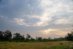 Die Ansicht des Sonnenuntergangs Stockfoto