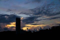 Die Ansicht des Sonnenuntergangs Lizenzfreie Stockfotografie