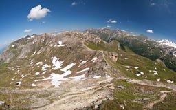 Die Ansicht vom Edelweisspitze stockbilder