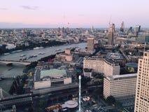 Die Ansicht vom London-Auge Stockfotografie