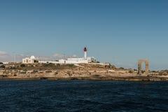 Die Ansicht vom Schiff auf der Küste von Mahdia Stockbilder