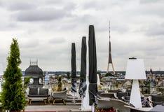 Die Ansicht vom Terrassencafé auf dem Dach der Mall-Galerie I Stockbilder