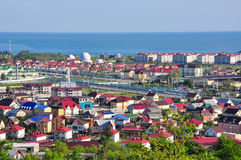 Die Ansicht von den Bergen im Adler-Bezirk von Sochi Stockfotografie