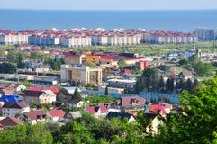 Die Ansicht von den Bergen im Adler-Bezirk von Sochi Lizenzfreies Stockbild