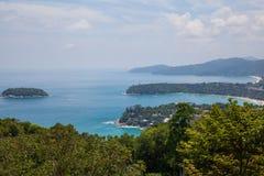 Die Ansicht von den Bergen zum Meer Lizenzfreie Stockfotografie