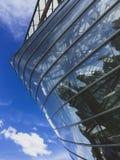 Die Ansicht von der Dachspitze von Louis Vuitton Foundation in Paris lizenzfreie stockfotos