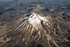 Die Ansicht von der Fläche auf Berg Erciyes, zentrale Anatolien Region der Türkei, Kayseri Stockbilder