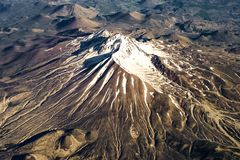 Die Ansicht von der Fläche auf Berg Erciyes, zentrale Anatolien Region der Türkei, Kayseri Lizenzfreie Stockfotos