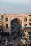 Die Ansicht von der großen Ikone des Hyderabads charminar lizenzfreie stockfotos