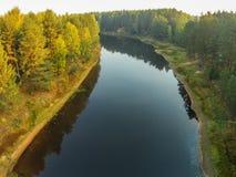 Die Ansicht von der Höhe des Flusses Mologa in der Tver-Region Lizenzfreie Stockbilder