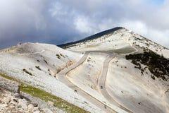 Die Ansicht von der Spitze mont ventoux Stockfotos