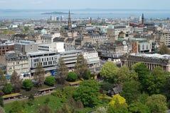 Die Ansicht von Edinburgh Stockfotos