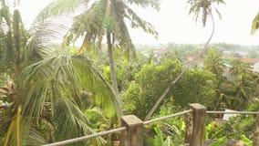 Die Ansicht von Galle-Landschaft von einem buddhistischen Tempel in Galle, Sri Lanka stock footage