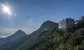 Die Ansicht von Hong Kong-Insel Stockfotos