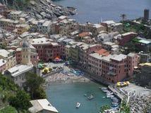 Die Ansicht von Manarola, Cinque Terre, Italien lizenzfreies stockfoto