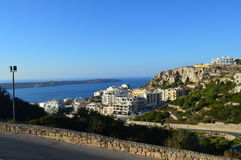Die Ansicht von Mellieha, Malta Lizenzfreie Stockfotografie