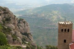 Die Ansicht von Montserrat Stockfotografie