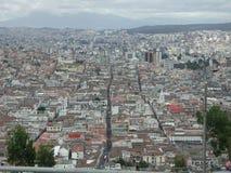 Die Ansicht von Quito Stockfoto