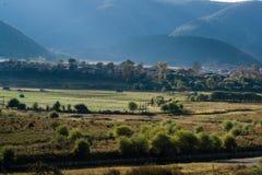 Die Ansicht von Shangri-La Stockfoto