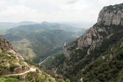 Die Ansicht von Spains Montserrat Lizenzfreie Stockbilder