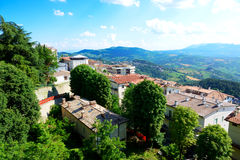 Die Ansicht von Titano-Berg Lizenzfreie Stockfotos
