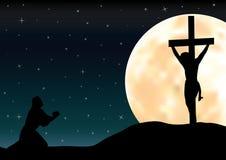 Die Anspielungen zu Jesus, Vektorillustrationen Stockfotografie