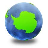 Die Antarktis auf grüner Erde Stockbild