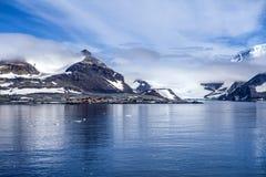 Die Antarktis-Forschungsbasisstation Lizenzfreies Stockbild