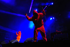 Die Antwoord performs live at Electric Castle Stock Image