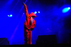 Die Antwoord performs live at Electric Castle Stock Images